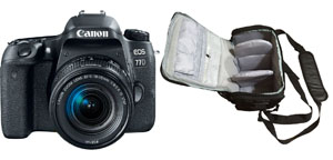 Canon EOS 77D 18-55 IS STM with Professional Camera Bag