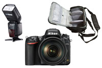 Nikon D750 DSLR Camera with 24-120mm Lens with Pro Camera Bag and Pro Speedlite Flash